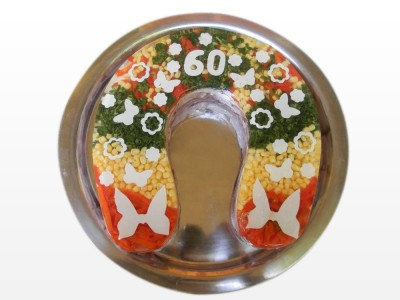 Aspikový dort - podkova velká (cena za Kg)
