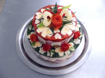 Aspikový dort - svatební patrový (cena za Kg)