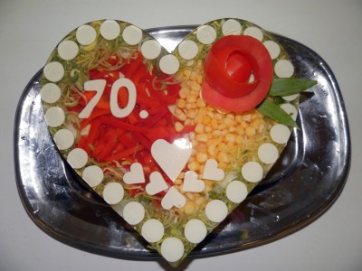 Aspikový dort - srdce velké (cena za Kg)
